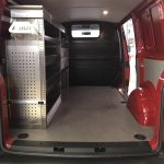 VW T6 mit Regal links